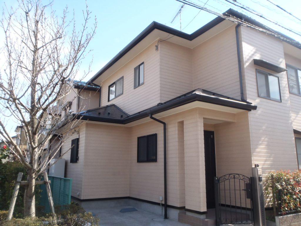 埼玉県,さいたま市外壁塗装,屋根,外壁,塗装,水性ペリアート,高級感,重厚感,高品質,オーバーコート,独自,最高品質,施工後