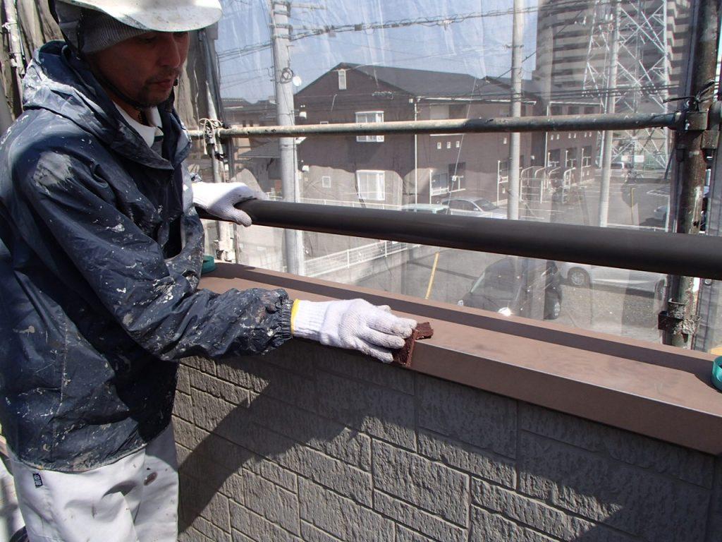 さいたま市外壁塗装,埼玉県川越市,外壁塗装,屋根塗装,ガイナ,遮断熱塗料,家の塗り替え,笠木ケレン