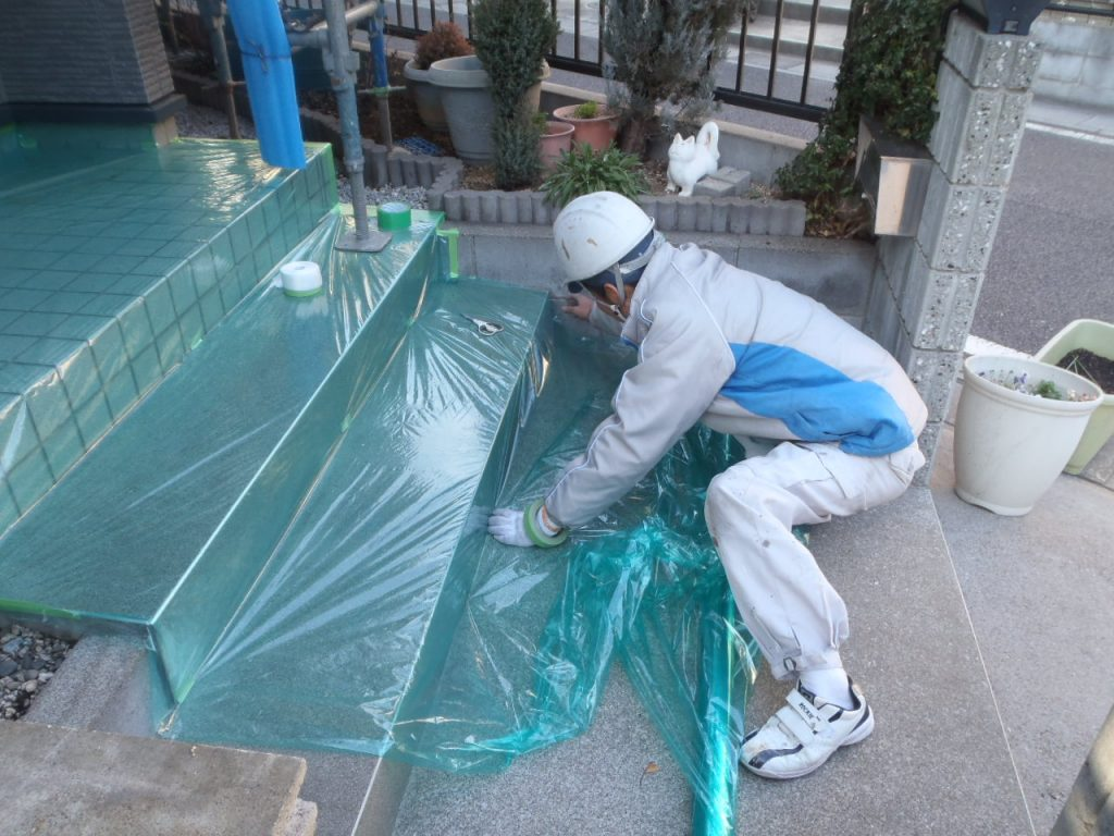 さいたま市外壁塗装養生,埼玉外壁塗装養生