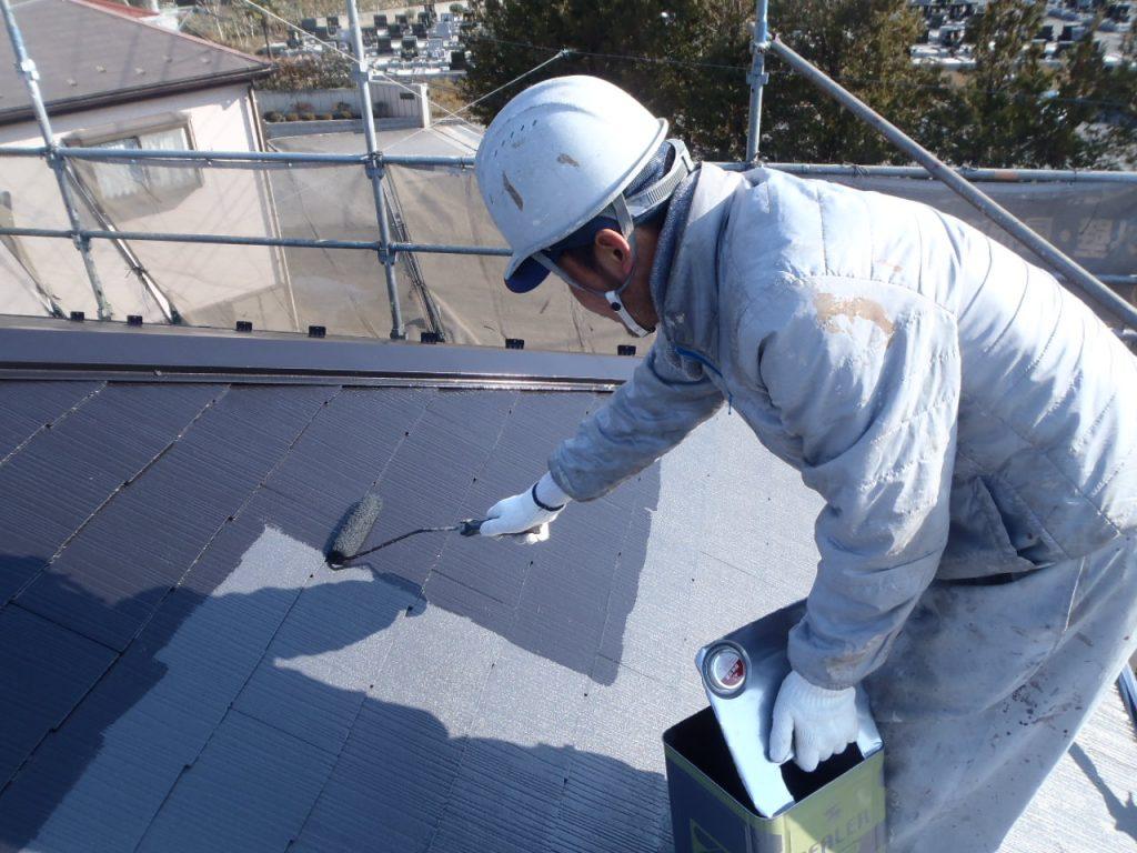 屋根遮熱塗装上塗さいたま市外壁塗装