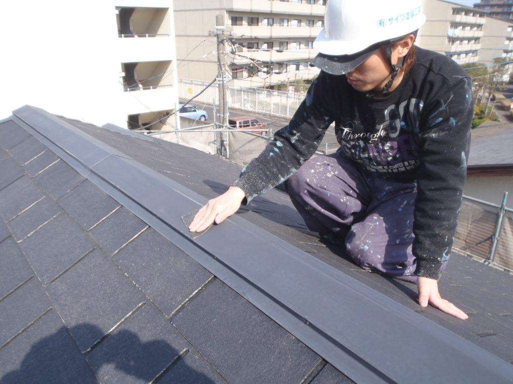 さいたま市,さいたま市塗り替え,一般住宅,家の塗り替え,埼玉県,千葉県塗り替え,外壁塗装,中塗,板金下地処理