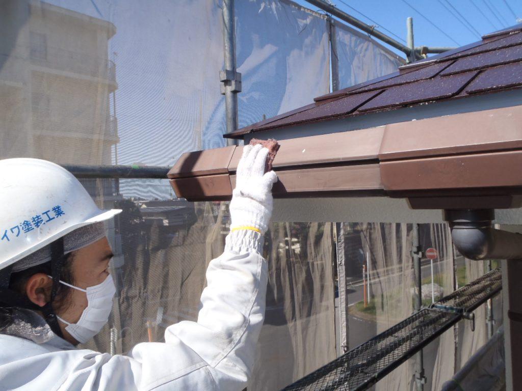 さいたま市,さいたま市塗り替え,一般住宅,家塗り替え,埼玉県,千葉県塗り替え,外壁塗装,中塗,雨どい下地処理