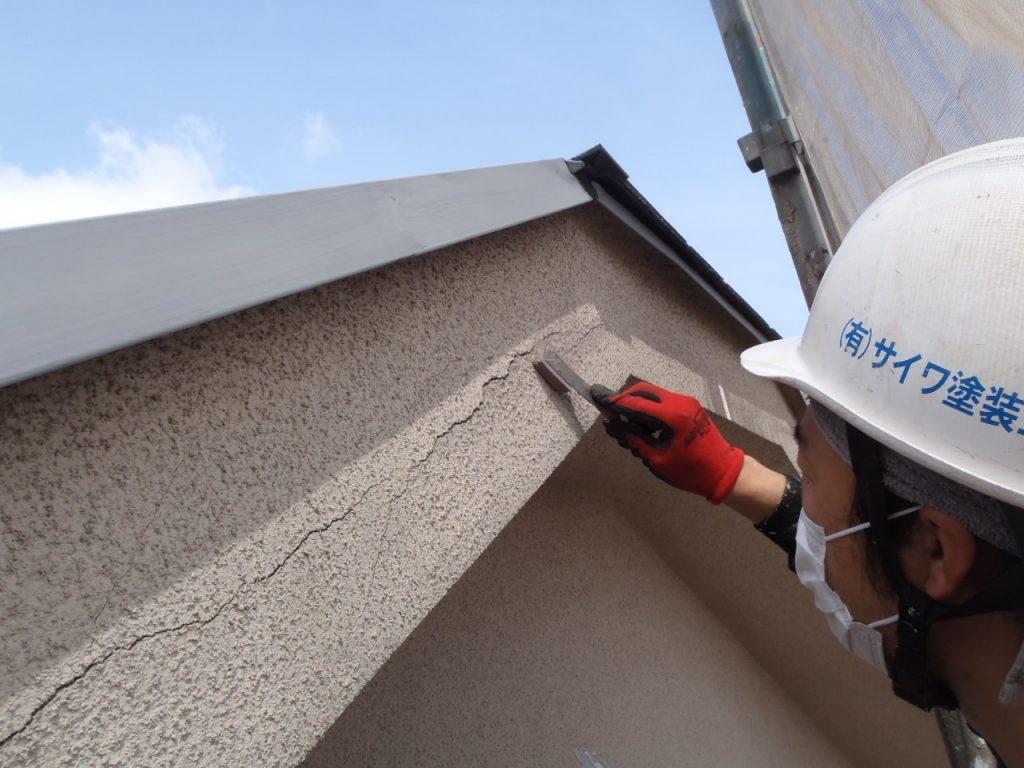 さいたま市,さいたま市塗り替え,一般住宅,家の塗り替え,埼玉県,千葉県塗り替え,外壁塗装,中塗,屋根クラック補修