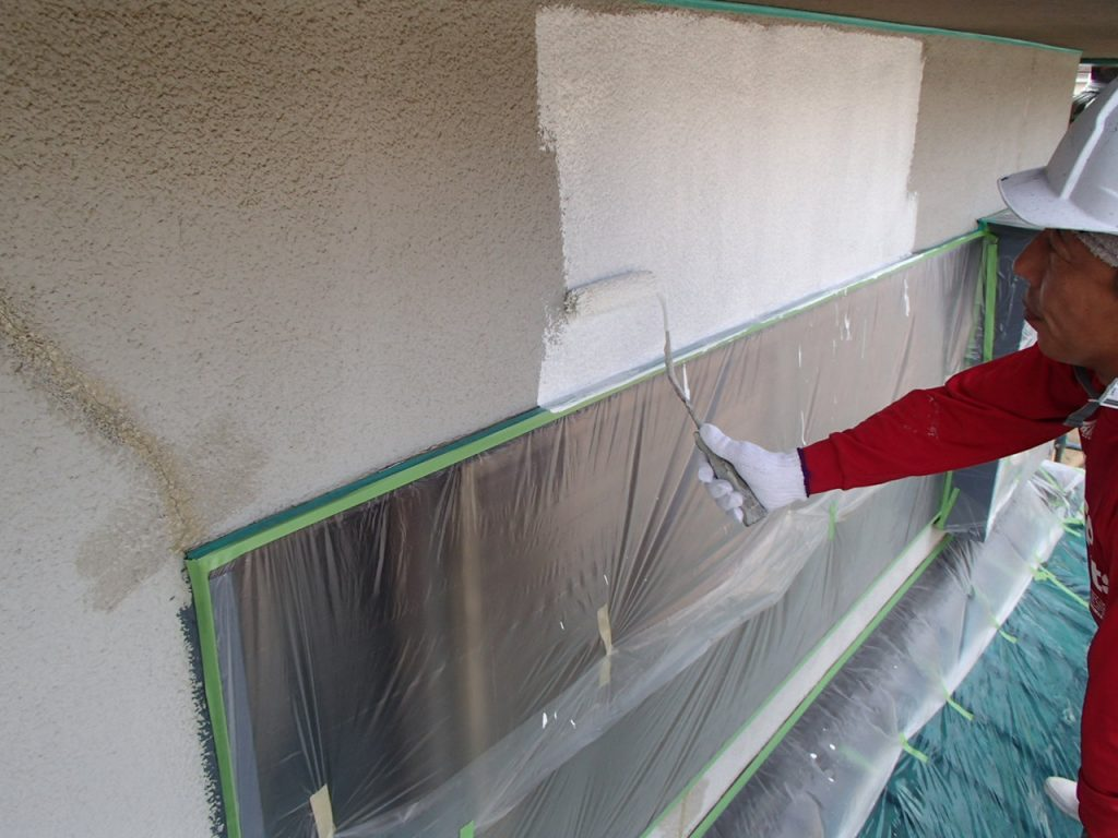 埼玉県,さいたま市,さいたま市外壁塗装,光触媒,光触媒外壁塗装,エポキシ樹脂,補修,ひび割れ,下地処理,家の塗り替え,外壁塗装