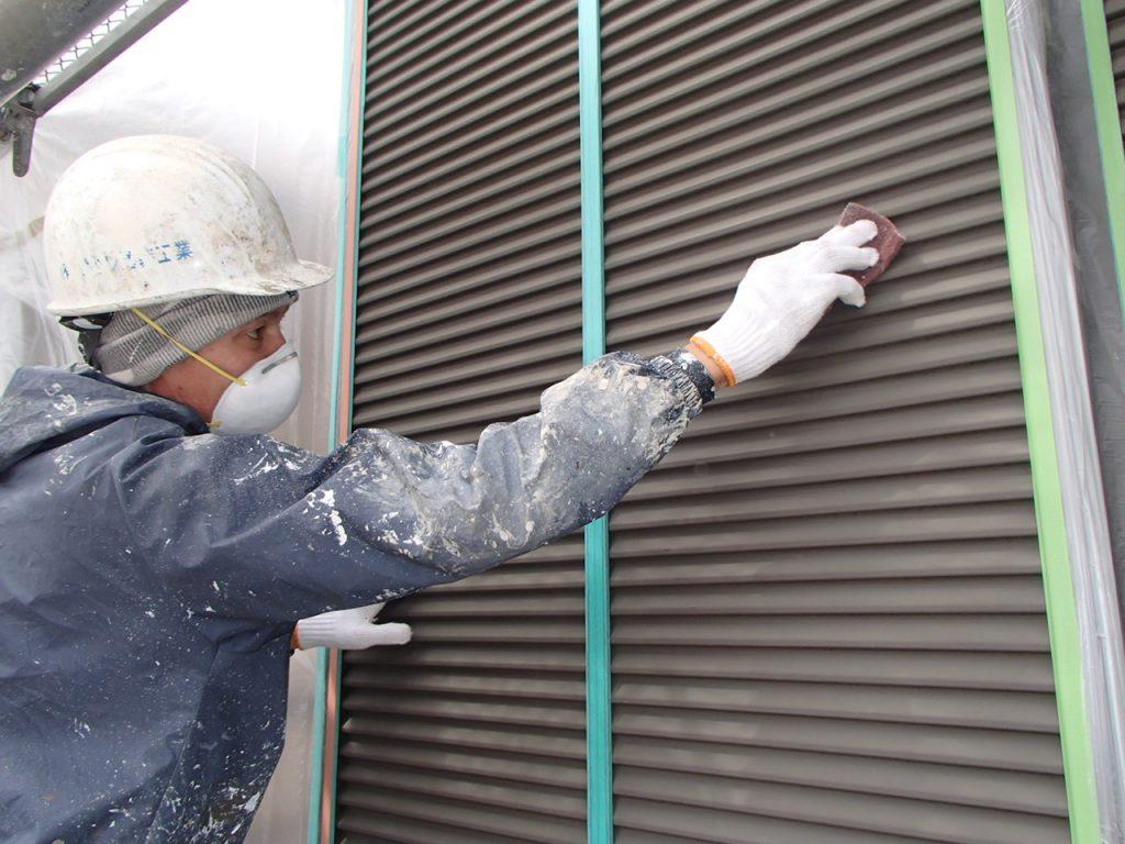 さいたま市外壁塗装,埼玉県川越市,外壁塗装,屋根塗装,ガイナ,遮断熱塗料,家の塗り替え雨戸ケレン