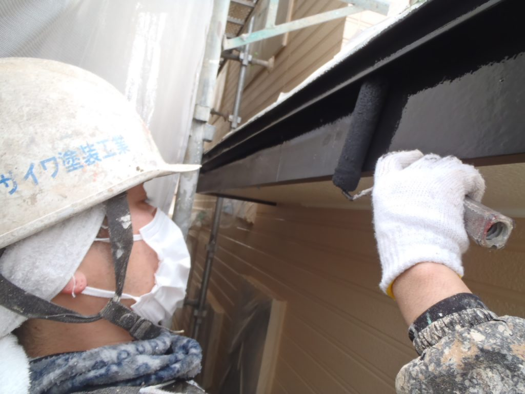 埼玉県,さいたま市外壁塗装,屋根,外壁,塗装,水性ペリアート,高級感,重厚感,高品質,オーバーコート,独自,最高品質,破風塗装