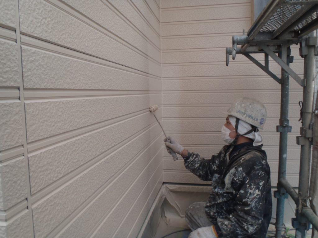 埼玉県,さいたま市外壁塗装,屋根,外壁,塗装,水性ペリアート,高級感,重厚感,高品質,オーバーコート,独自,最高品質,外壁下塗り