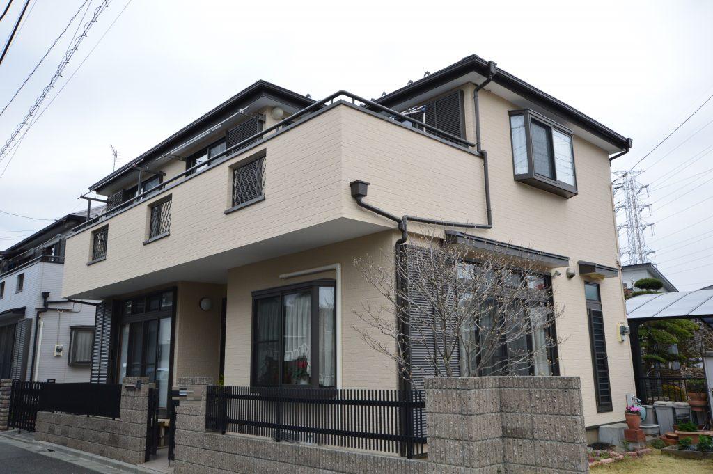 さいたま市外壁塗装,埼玉県川越市,外壁塗装,屋根塗装,ガイナ,遮断熱塗料,家の塗り替え,施工後