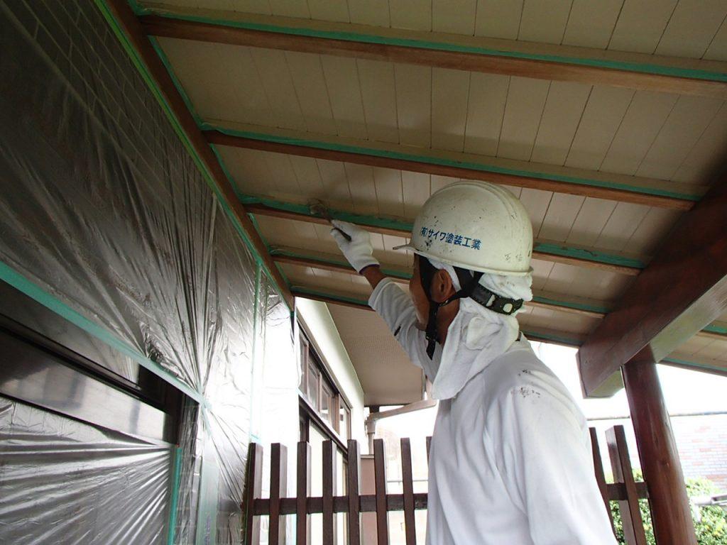 埼玉県,さいたま市,さいたま市外壁塗装,光触媒,光触媒外壁塗装,エポキシ樹脂,補修,ひび割れ,下地処理,家の塗り替え,軒天塗装
