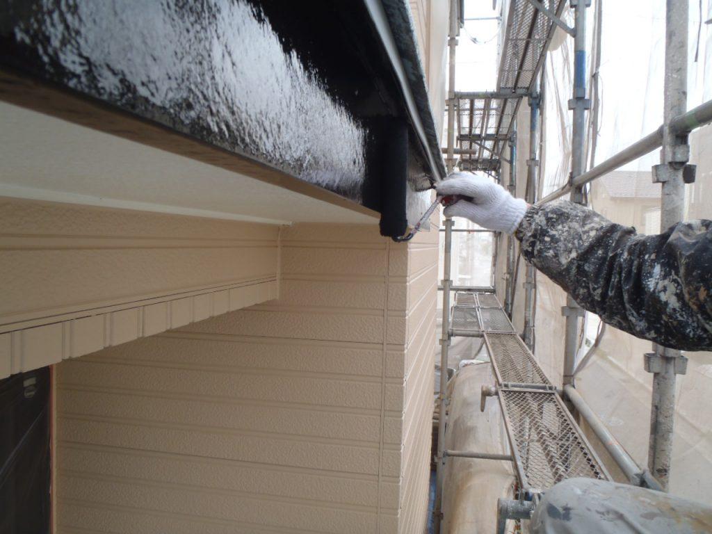埼玉県,さいたま市外壁塗装,屋根,外壁,塗装,水性ペリアート,高級感,重厚感,高品質,オーバーコート,独自,最高品質,破風下塗り