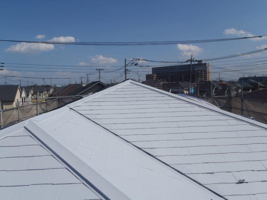 埼玉県,さいたま市,さいたま市西区,屋根外壁塗装,さいたま市外壁塗装,外壁塗装,屋根塗装,遮断熱塗料ガイナ,ガイナ,中塗り