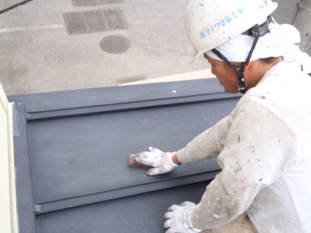 屋根下地処理