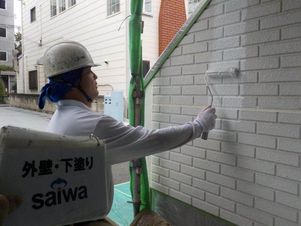 外壁塗装 ガイナ 下塗り
