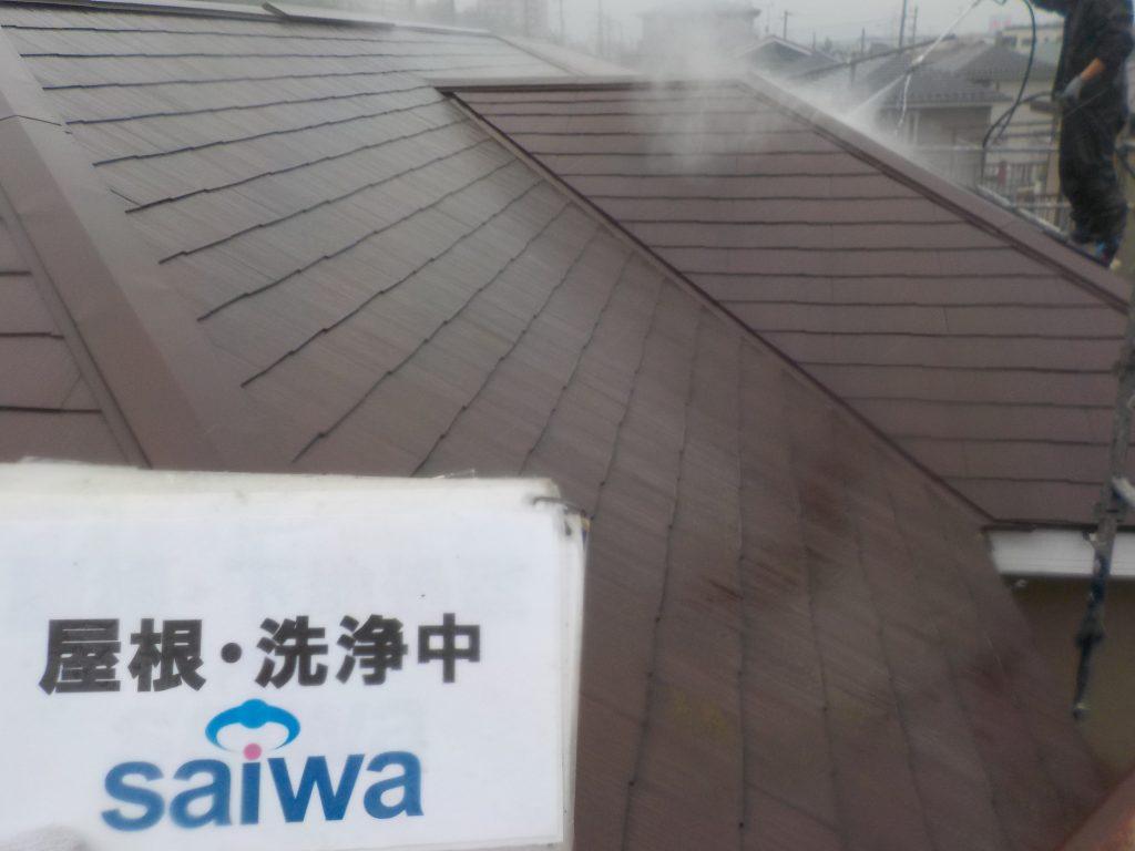 屋根の高圧水洗浄