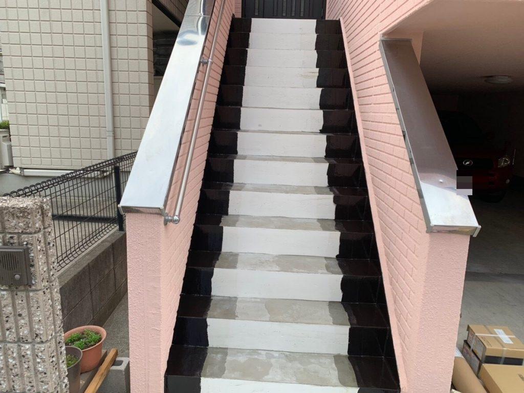 階段長尺シート工事