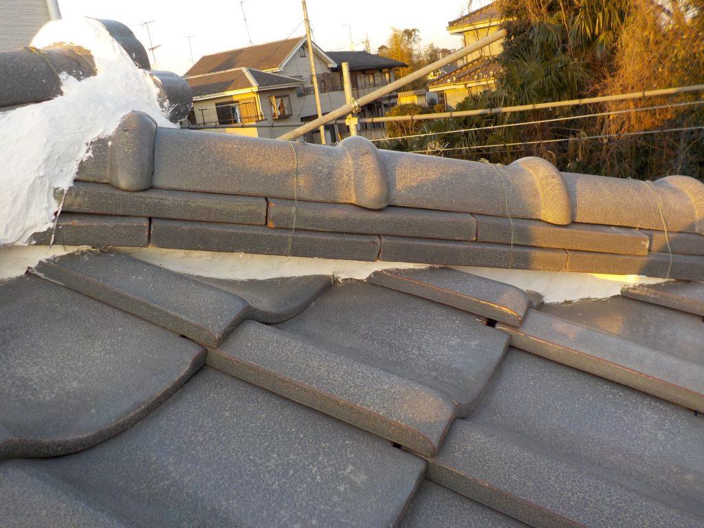 漆喰補修 屋根