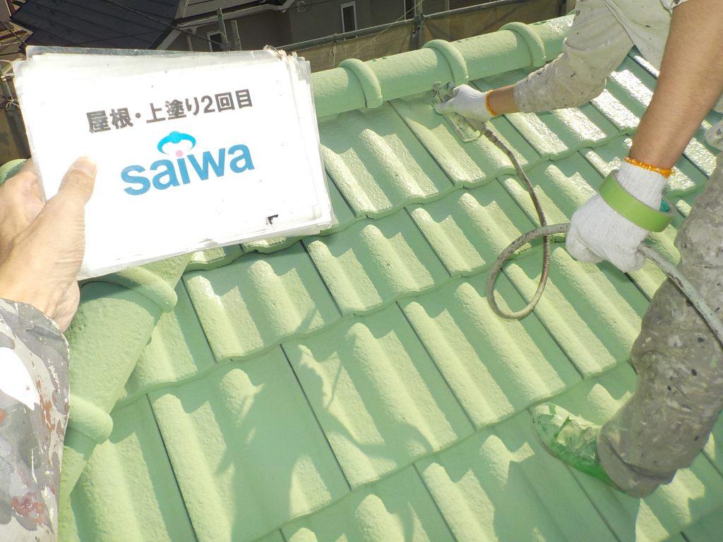 屋根の塗装 ガイナ