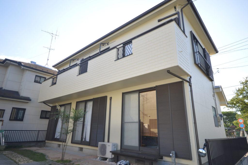 外壁施工後 外壁 ガイナ 屋根塗装