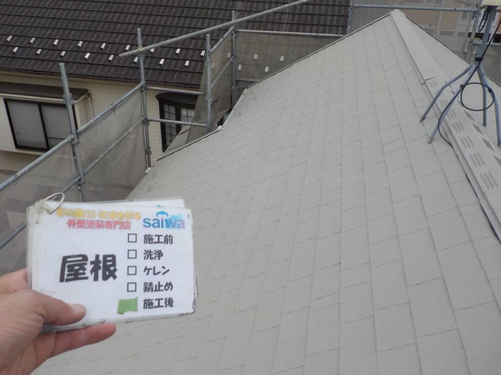 屋根塗装 ガイナ塗装外壁施工後 さいたま市外壁塗装 さいたま市三橋 西遊馬