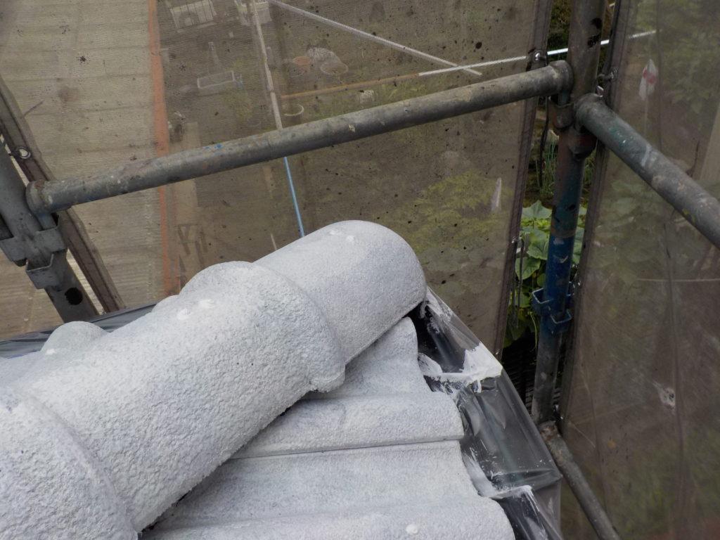 さいたま市三橋 指扇 外壁塗装 サイワ塗装 棟瓦