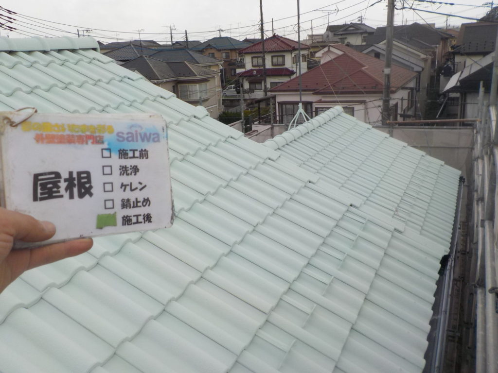 さいたま市三橋 指扇 外壁塗装 サイワ塗装 屋根