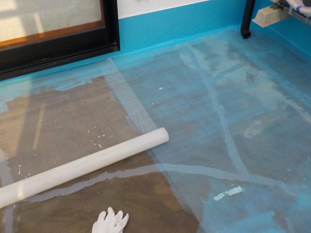 さいたま市三橋 指扇 外壁塗装 サイワ塗装 ベランダ メッシュシート補強