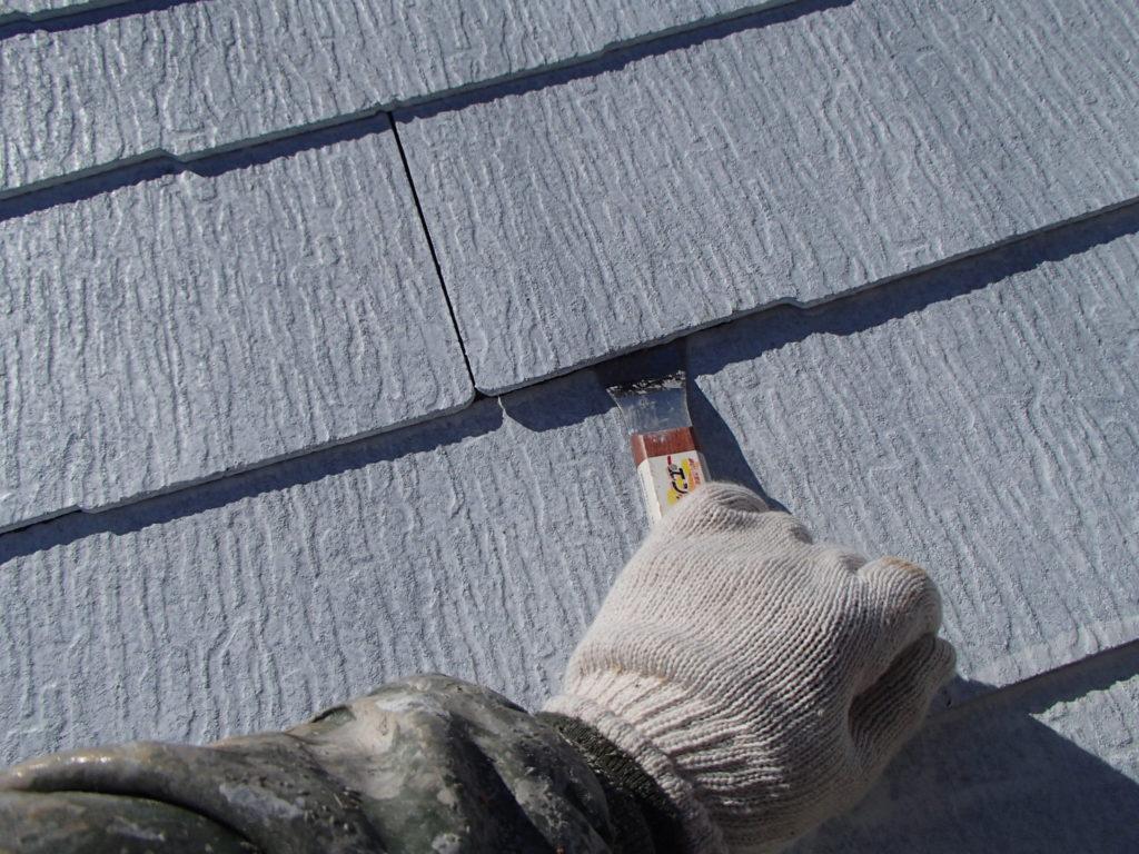 カッター縁切り 屋根改修