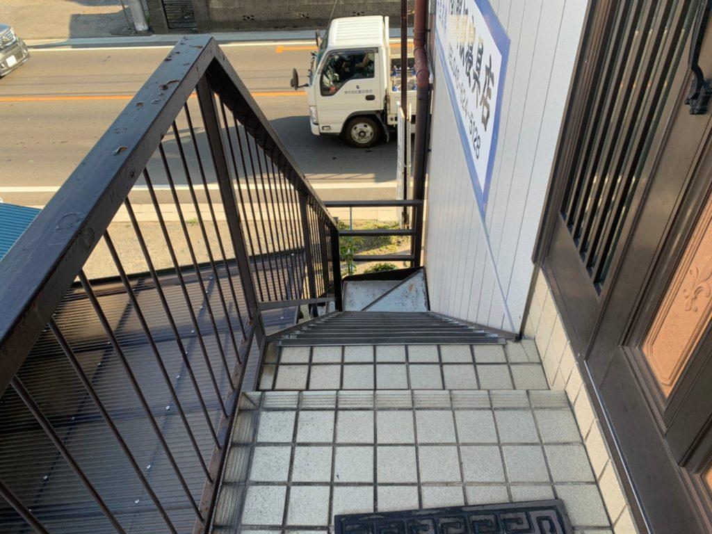 さいたま市三橋 鉄骨階段塗り替え  さいたま市西区三橋 サイワ塗装工業