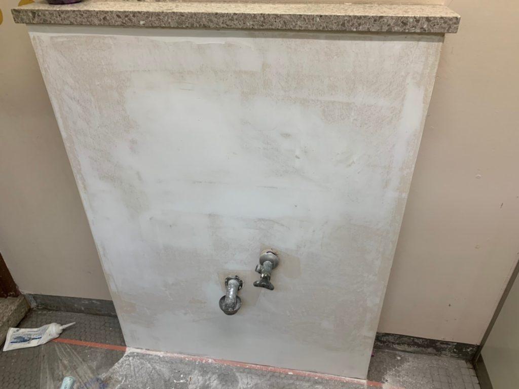 さいたま市西区宝来清掃事務所 手洗い洗面器交換 さいたま市西区三橋 サイワ塗装工業