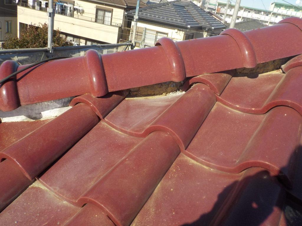 さいたま市西区西遊馬 屋根漆喰補修 さいたま市サイワ塗装工業