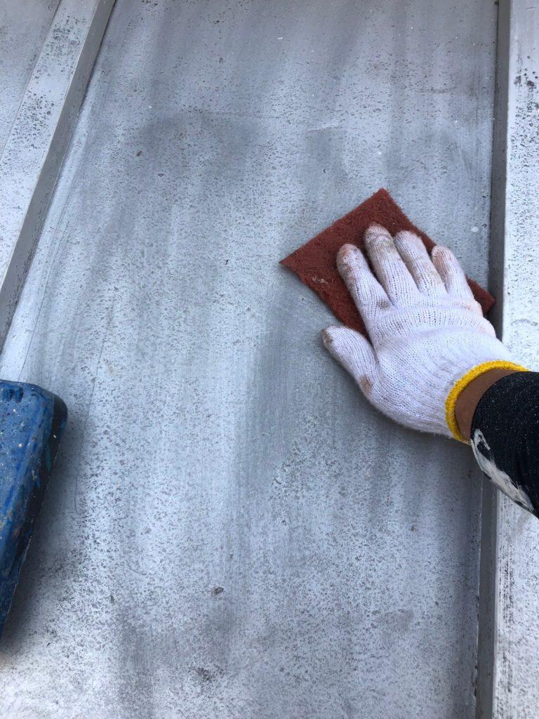 さいたま市中央区 屋根塗装 ケレン