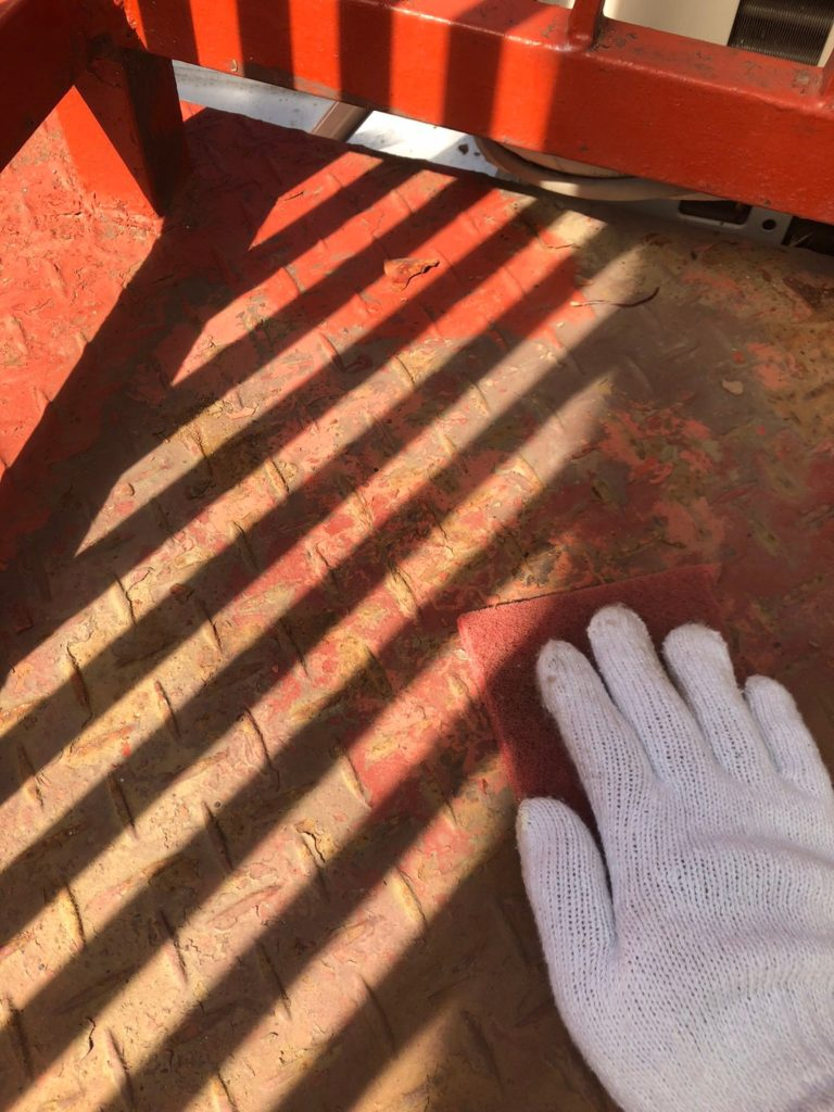 さいたま市中央区 ベランダ塗装 ケレン