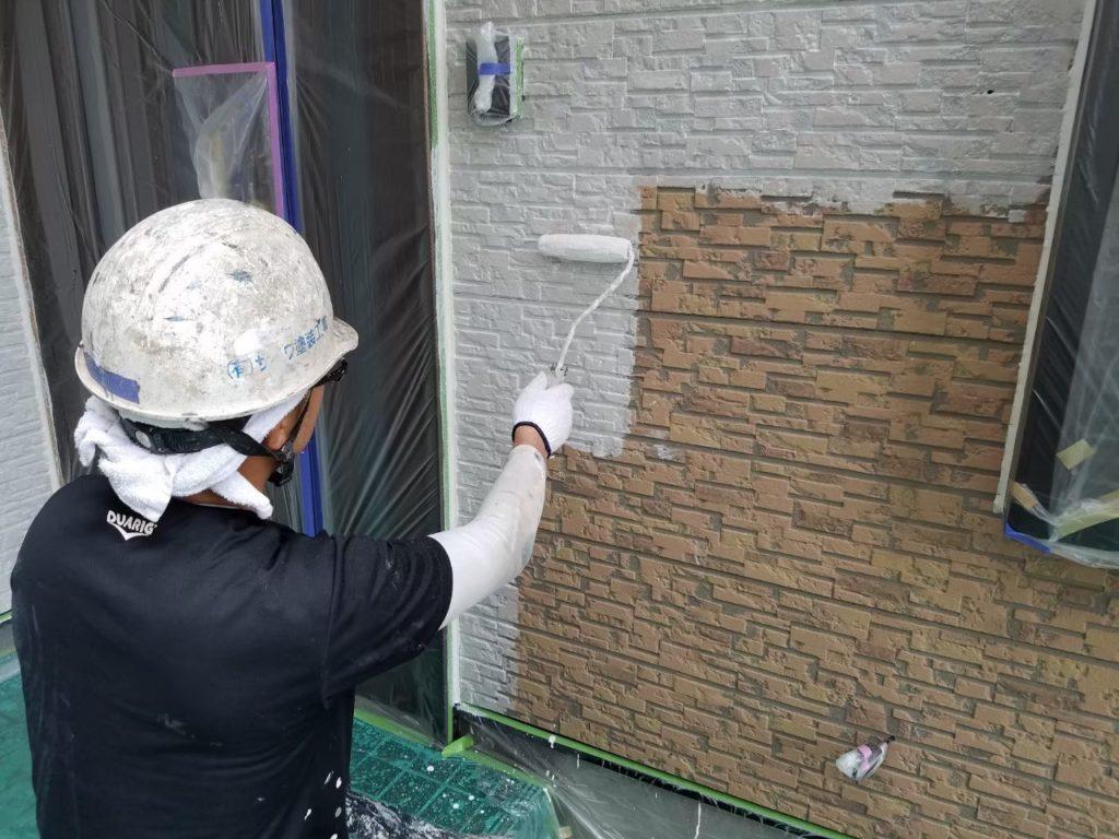 屋根下塗り ローラー塗装