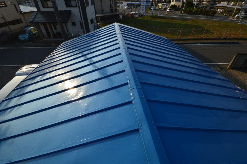 トタン屋根塗装 スカイブルー