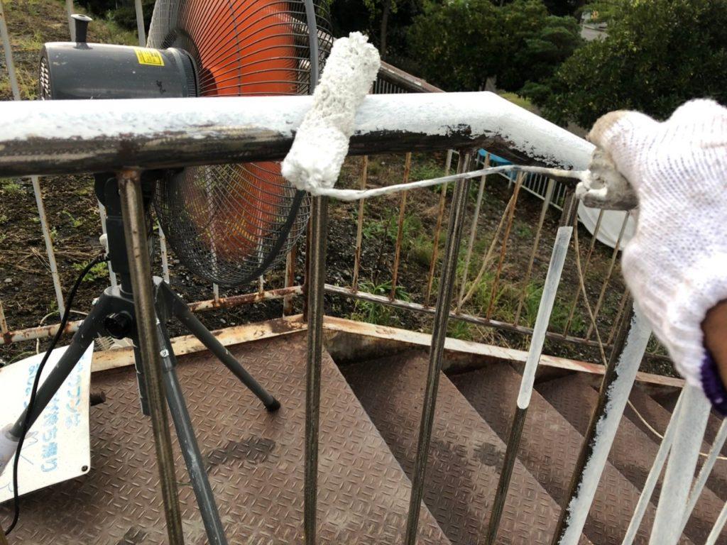 さいたま市西区 外鉄骨階段 塗装