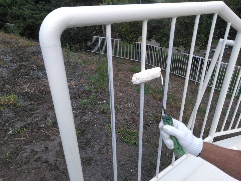けやき台 階段塗装 サイワ塗装