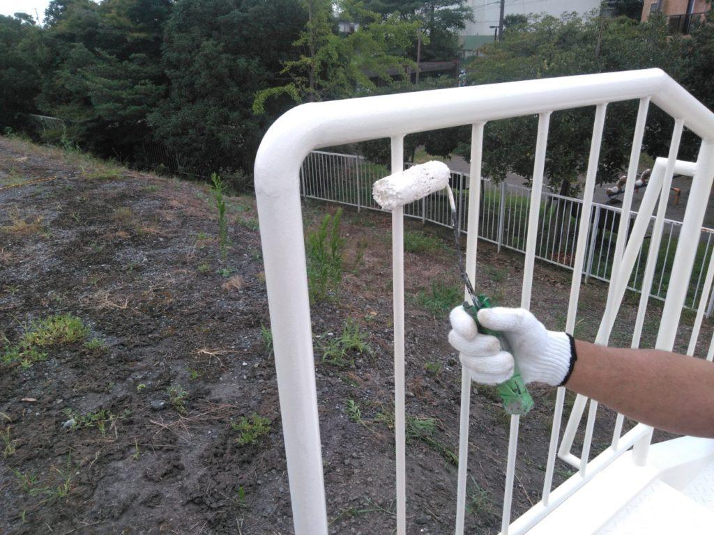 さいたま市西区 鉄骨階段 サイワ塗装 けやき台