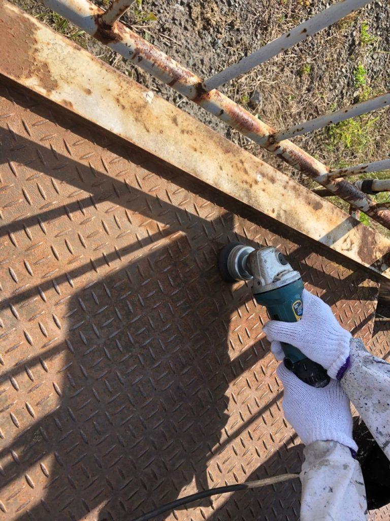 カップワイヤー さいたま市西区 鉄骨階段 ケレン