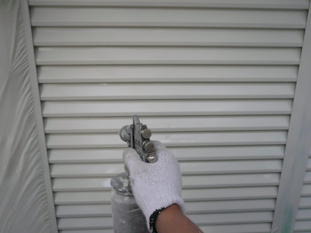 サイワ塗装工業 雨戸塗装 越谷市