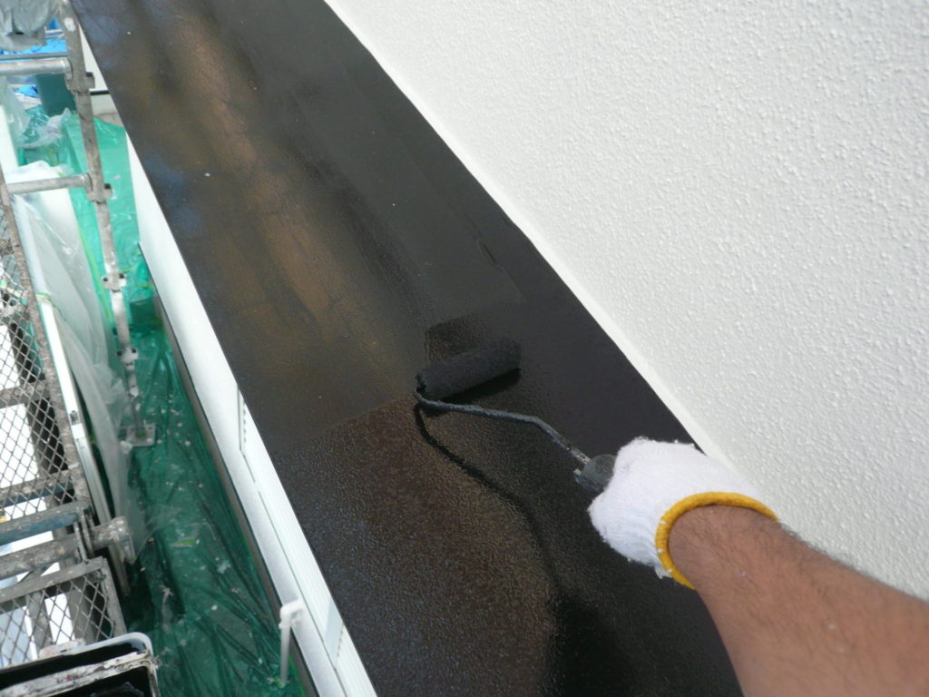 さいたま市西区 サイワ塗装工業 庇塗装