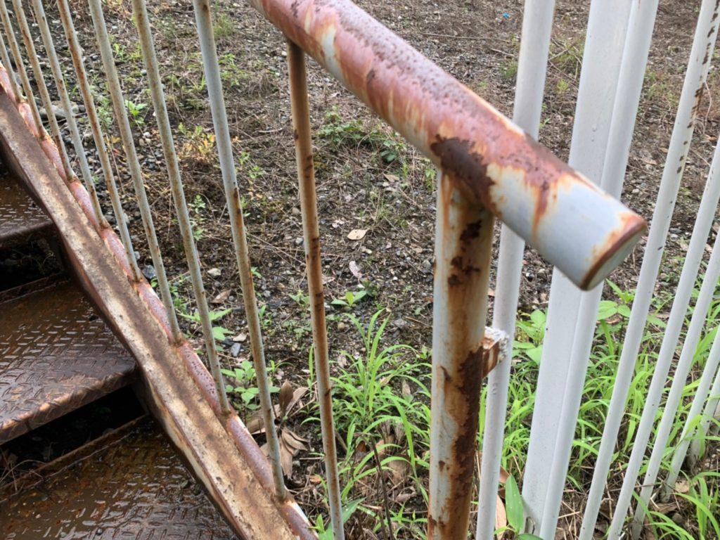 さいたま市西区 鉄骨階段 金属塗装