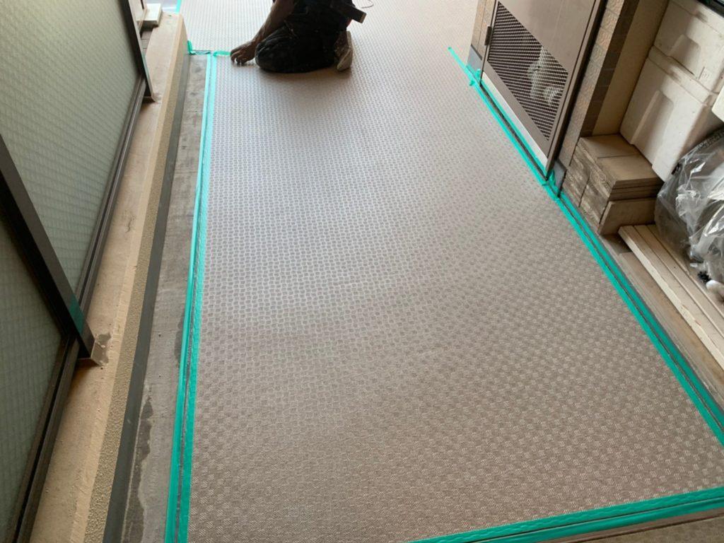 シーリング処理 川越市 養生 長尺シート