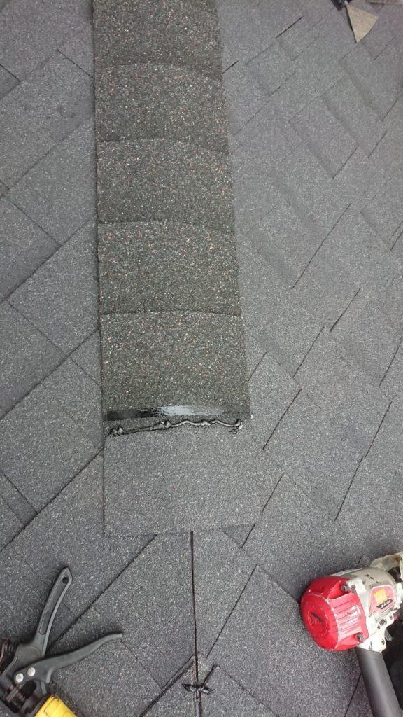 棟板金の取り付け カバー工法