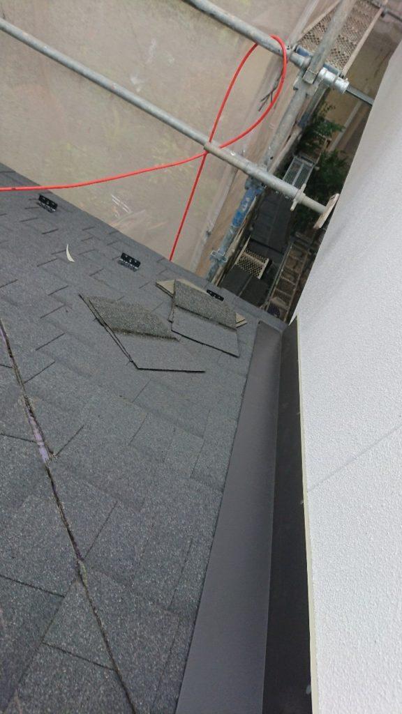 屋根の貼り付け 新規屋根材 カバー工法