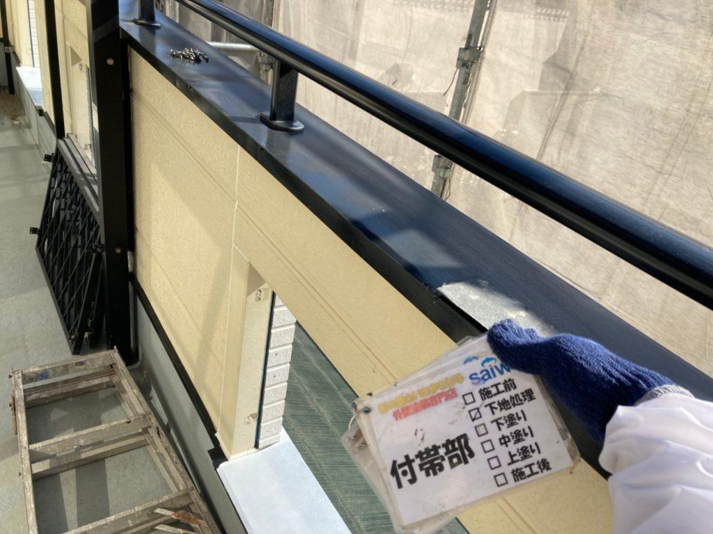 さいたま市北区 鉄部塗装 サイワ塗装工業 ケレン