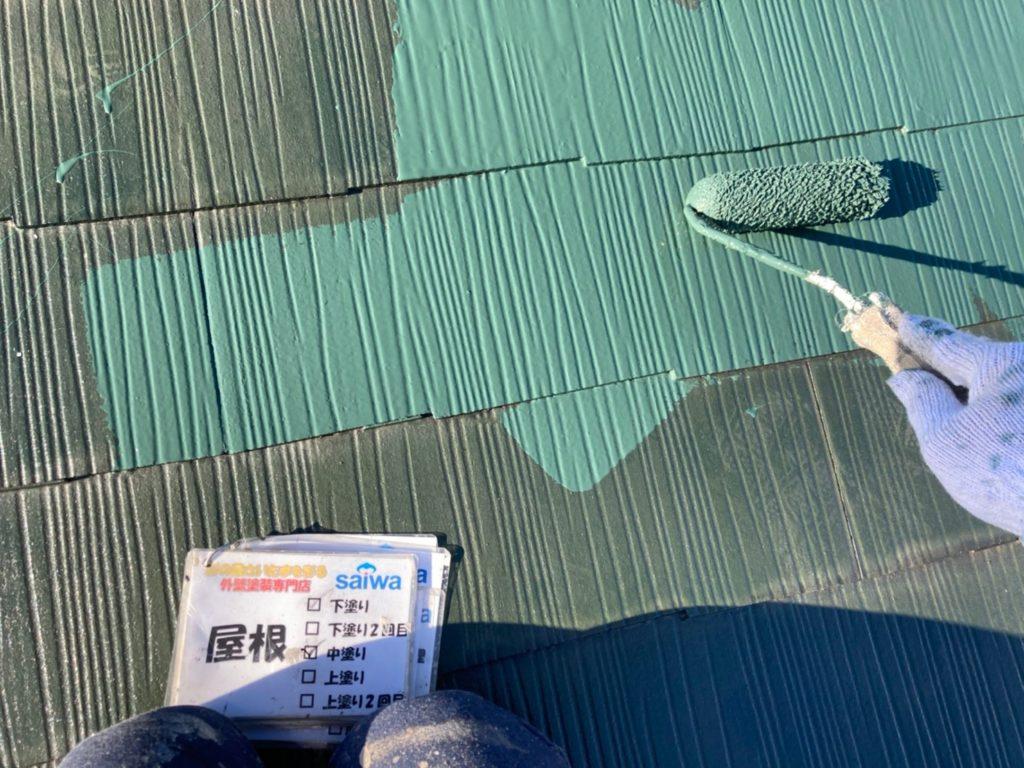 さいたま市北区 屋根塗装 サーモアイF サイワ塗装工業