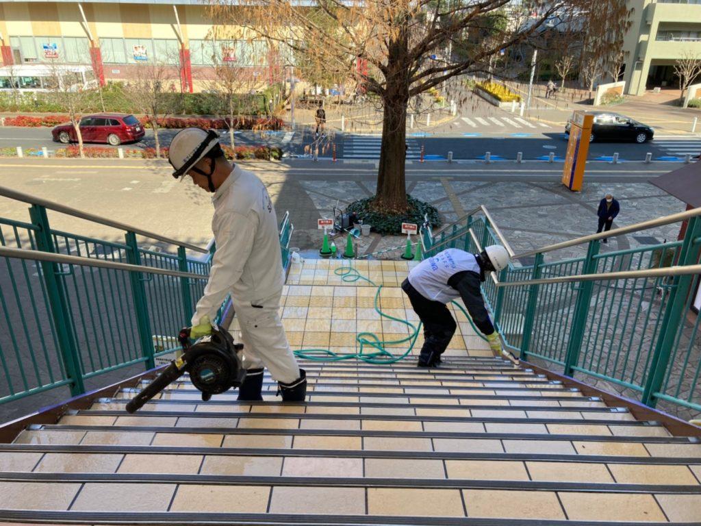 滑り止め工事 滑りやすいタイル 防滑工事 タイル清掃