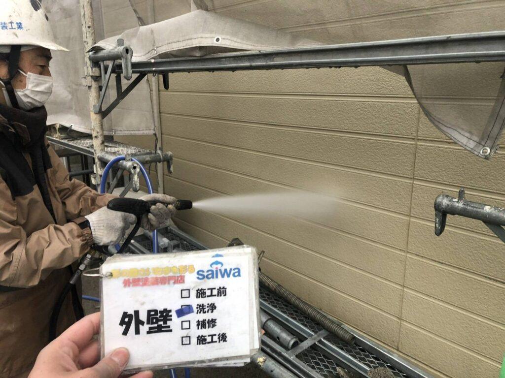 高圧水洗浄 壁 汚れ