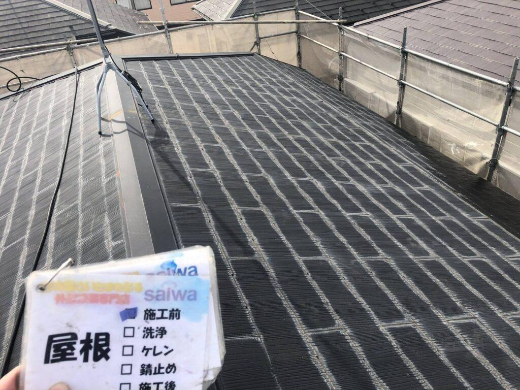 屋根の塗装 施工前状況