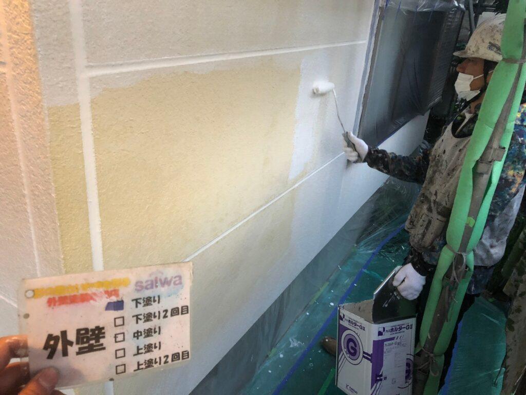 外壁塗装 外壁塗装さいたま市 下塗り